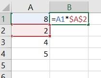 Zo vermenigvuldig je een kolom met dezelfde cel in Excel