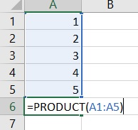 Zo vermenigvuldig je meerdere cellen in Excel